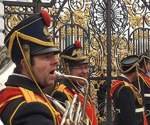 Band upfront of Catherine Palace, St. Petersburg, Russia